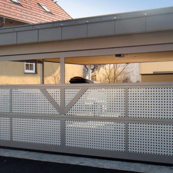 Aluminium-Deckensektionaltor für Carport